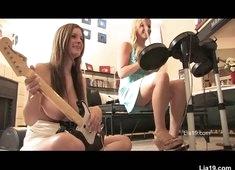 Lia 19 plays unnerve strip with Danielle